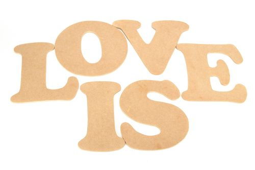 Plywood chipboard letters - MADEheart.com