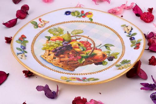 Handmade unusual plate interesting kitchen decor designer beautiful accessory - MADEheart.com