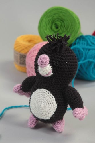 Miniature handmade soft toy stuffed toy crochet toy birthday gift ideas - MADEheart.com