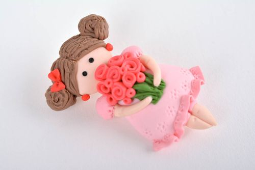 Polymer clay brooch handmade brooch designer jewelry present for girls - MADEheart.com
