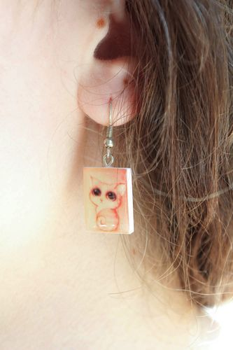 Earrings with kittens - MADEheart.com