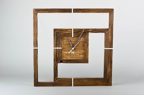 Handmade wall decor decorative wall clocks wooden wall clock wooden gifts - MADEheart.com