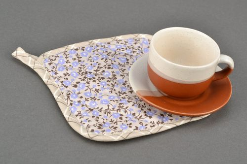 Cotton pot holder Lavender Flowers - MADEheart.com