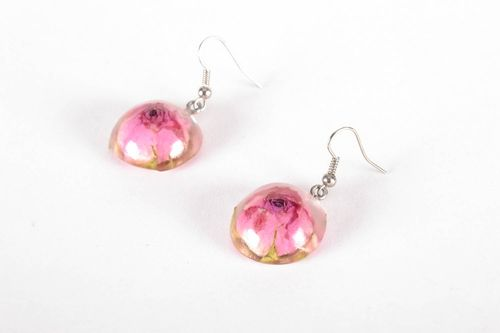 Earrings made of rose buds - MADEheart.com