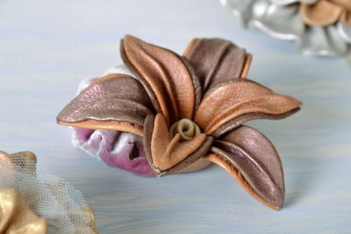 Scrunchy Made of Leather - MADEheart.com