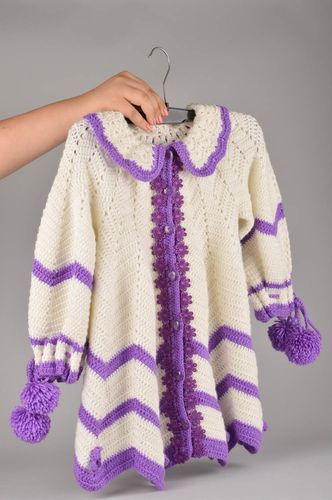 Handmade crocheted blouse for children baby girl clothes stylish accessories - MADEheart.com