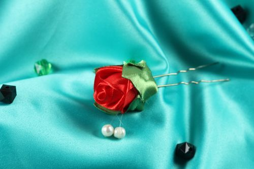 Beautiful handmade hair pin flower hairpin head accessories ideas gifts for her - MADEheart.com