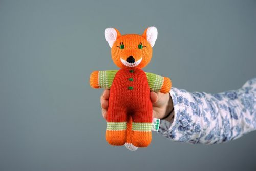 Decorative knitted toy Foxy Nikita - MADEheart.com