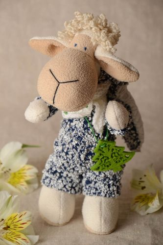 Felt handmade decorative stuffed toy soft little lamb for children and interior - MADEheart.com
