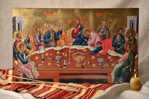 Icon reproduction The Last Supper - MADEheart.com