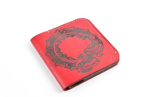 Men wallet handmade genuine leather wallet present for friend men accessories - MADEheart.com