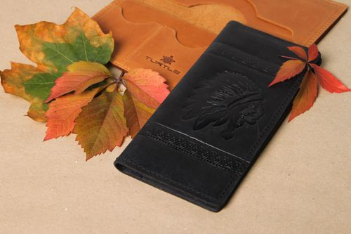 Unusual handmade leather wallet handmade accessories for men gift ideas - MADEheart.com