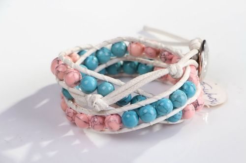 Bracelet with turquoise  - MADEheart.com