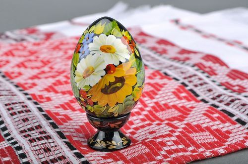 Decorative egg with a holder Sunflower - MADEheart.com