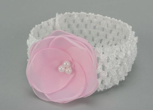 Decorative headband with flower - MADEheart.com
