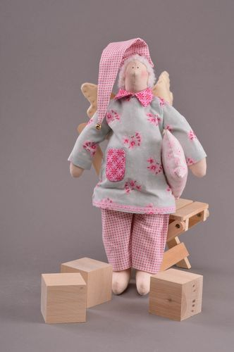 Beautiful handmade childrens cotton fabric soft toy Sleepy Angel - MADEheart.com