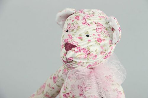 Soft toy Pink bear - MADEheart.com