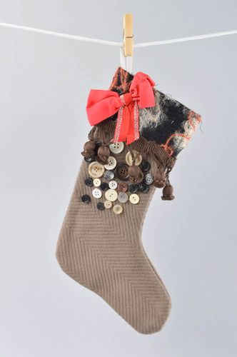 Handmade decorations Christmas stocking Christmas socks home decor unique gifts - MADEheart.com