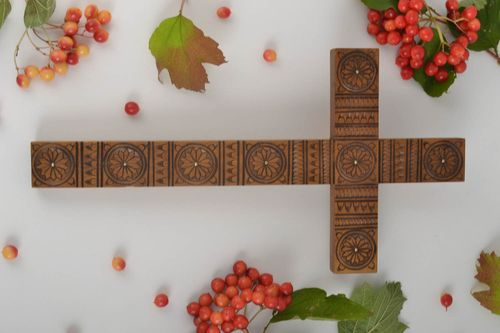 Rustic wall decor handmade wooden cross wall cross wood gifts church supplies - MADEheart.com