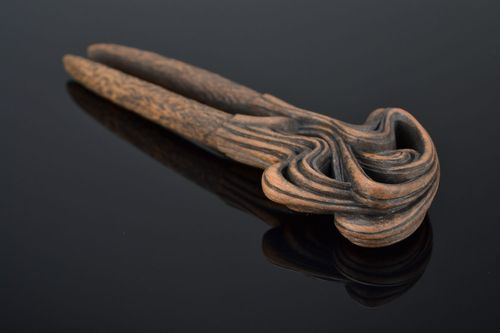 Unusual wooden hairpin - MADEheart.com
