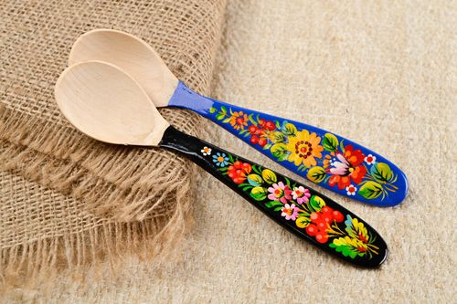 Handmade spoon set of 2 items decor ideas unusual spoon designer kitchen utensil - MADEheart.com