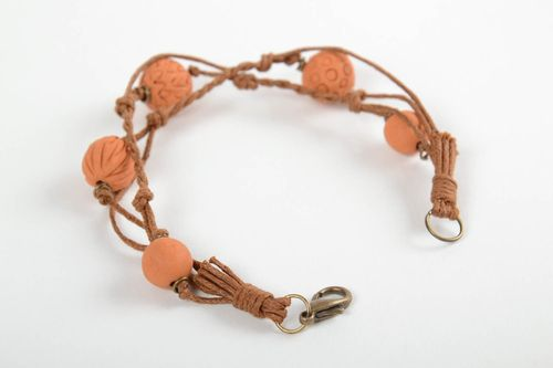 Beautiful handmade woven bracelet ceramic bracelet accessories for girls - MADEheart.com