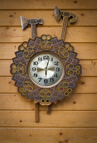 Wooden carved clock - MADEheart.com