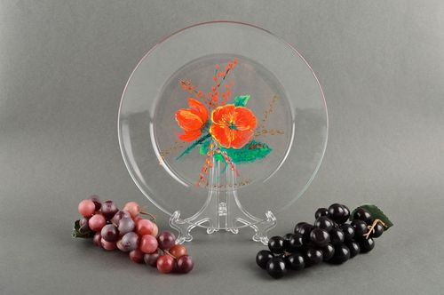 Unusual handmade glass plate table decor ideas cool rooms decorative use only - MADEheart.com
