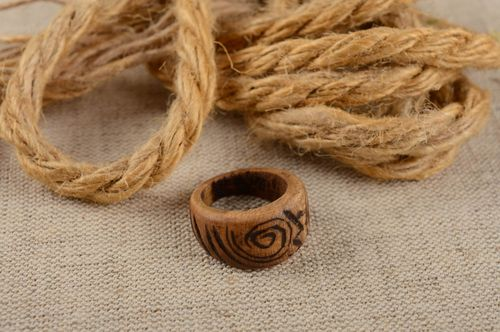 Beautiful handmade wooden ring fashion trends accessories for girls wood craft - MADEheart.com