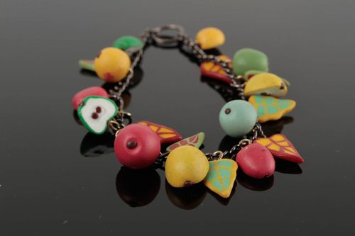 Unusual handmade plastic bracelet polymer clay ideas costume jewelry designs - MADEheart.com