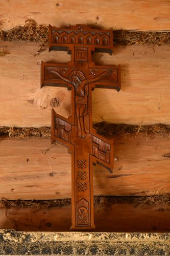 Wooden wall decor handmade wall crucifix spiritual gifts wood carvings  - MADEheart.com