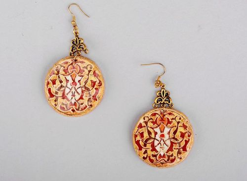 Vintage earrings Wealth - MADEheart.com