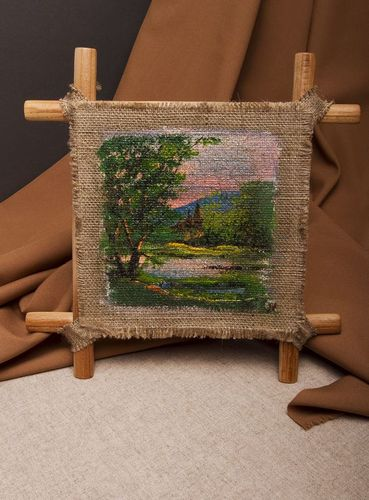 Picture painted on a sackcloth - MADEheart.com