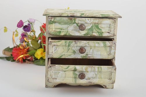 Beautiful handmade plywood jewelry box decoupage box wood craft house and home - MADEheart.com