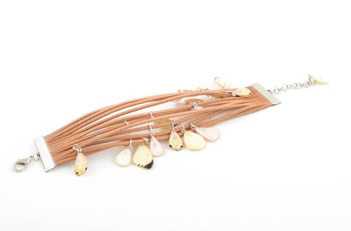 Stylish handmade leather bracelet unusual cord bracelet designs leather goods - MADEheart.com
