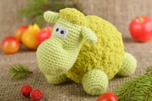 Handmade soft toy lamb toy crochet toy gifts for kids nursery decorating ideas - MADEheart.com