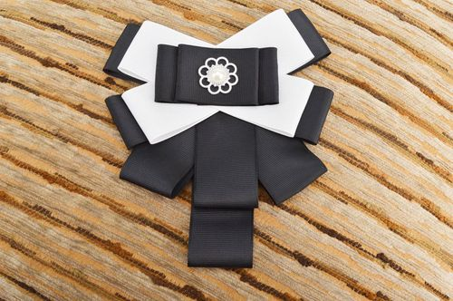 Handmade designer jewelry textile unusual brooch beautiful bow brooch - MADEheart.com