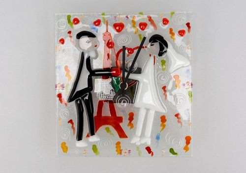 Clock of fusing glass Paris - MADEheart.com