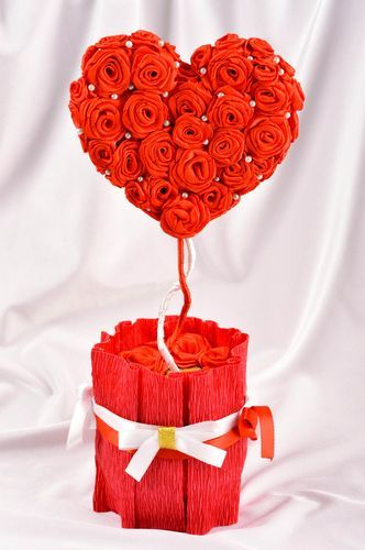 Unusual handmade artificial flowers the topiary gift ideas decorative use only - MADEheart.com