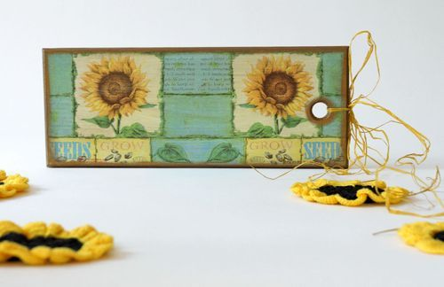 Decorative cutting board Sunflowers - MADEheart.com