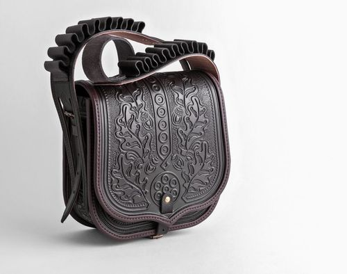 Leather bag with stamping - MADEheart.com