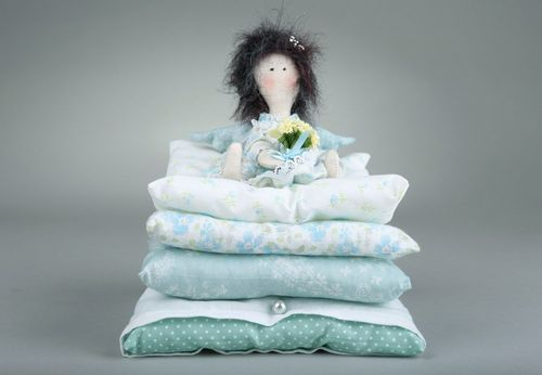 Tilde doll The princess on a pea in blue colors - MADEheart.com