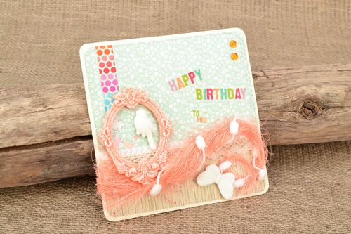 Handmade greeting card Happy Birthday - MADEheart.com