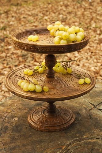 Wooden fruit bowl - MADEheart.com