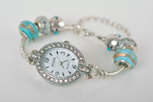 Fashionable feminine watch handmade accessories designer beautiful present - MADEheart.com