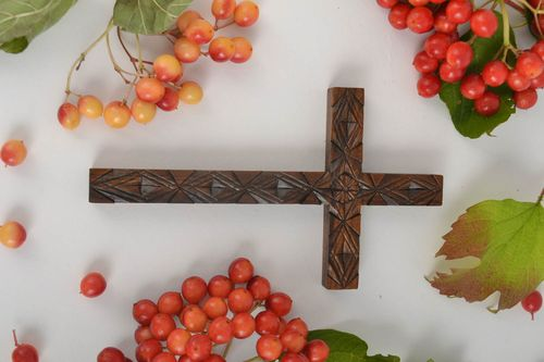 Handmade wood cross rustic wall decor church supplies religious gifts  - MADEheart.com
