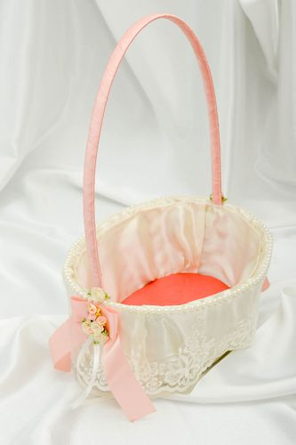 Handmade wedding basket beautiful wedding basket designer wedding accessory - MADEheart.com