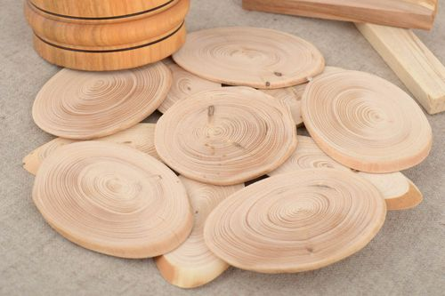 Handmade eco friendly natural light wooden trivet for hot pots for kitchen - MADEheart.com