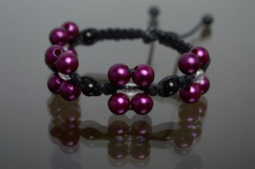 Macrame bracelet with ceramic beads - MADEheart.com