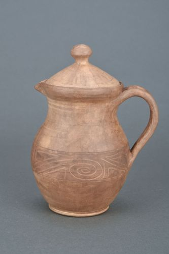 Clay jug for water and milk - MADEheart.com